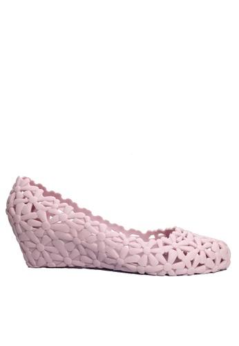 Twenty Eight Shoes 粉紅色 鏤空果凍膠船跟雨鞋 VR-M801 861FCSHBC5E28CGS_1