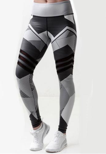 LYCKA grey LYG9306 Lady Quick Drying Running Mesh Fitness Yoga Sports Leggings -Dark Grey 4C498AA6A00F1EGS_1