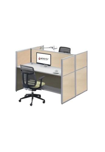 AMERCIS white Amercis Stamford 1200L Workstation for 2 001EBHL6FA48B5GS_1