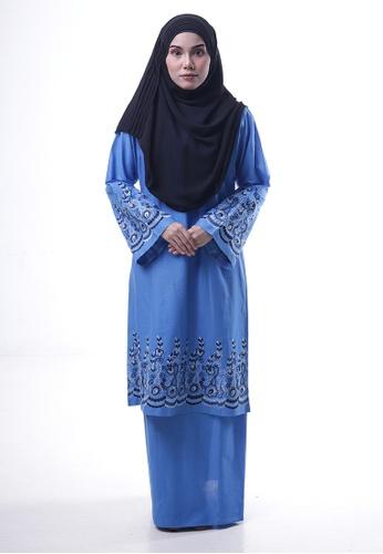 Denai Boutique blue Baju Kurung Toyyib 5C02FAA95FE06FGS_1