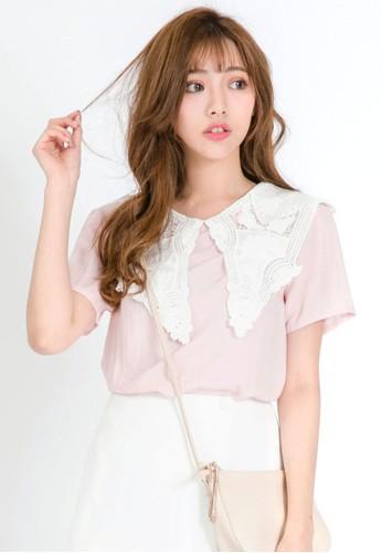 Tokichoi pink Ribbon Crochet Top 1629DAA5B46B4CGS_1