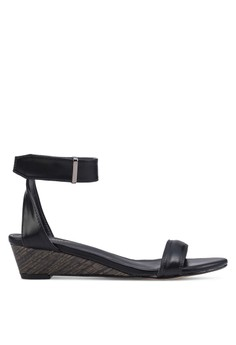 Zalora Black Ankle Strap Wedge Sandals 9dbe7sh48189f3gs 1