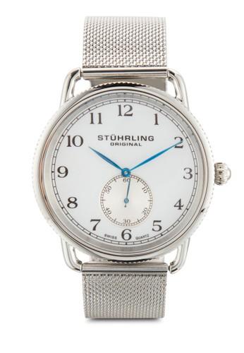 Stuhrling Originesprit台灣門市al 207M.01 Classique 網眼錶帶手錶, 錶類, 飾品配件