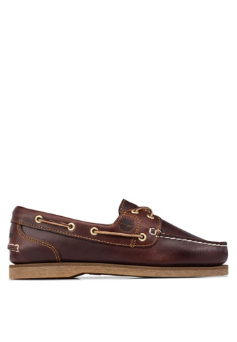 Timberland brown Amherst 2-Eye Classic Boat Shoes TI845SH12NUPSG_1