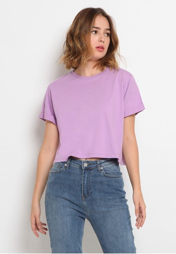 The Executive purple Cropped T-Shirt 1F72FAA4601356GS_1