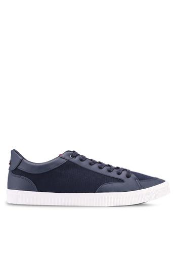 Burton Menswear London navy Navy Alec Trainers Basic Sneakers AB504SHEB0375BGS_1