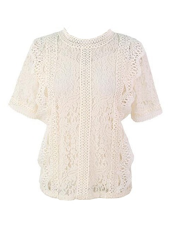 Twenty Eight Shoes white VANSA Lace Short Sleeves Blouse  VCW-Bs1033 8FCF3AA21DFC07GS_1