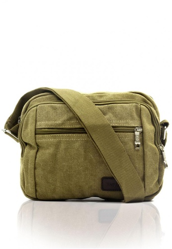 Attraxion Men's and Accessories green Nimrod 0065-15 Crossbody Bag B4FDAAC0BC5638GS_1