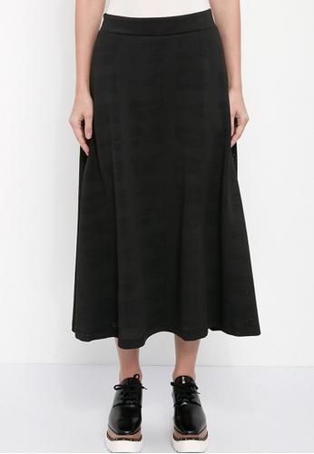 Dkny black DKNY Women Logo Scuba Maxi Skirt 6534CAA54E9BDCGS_1