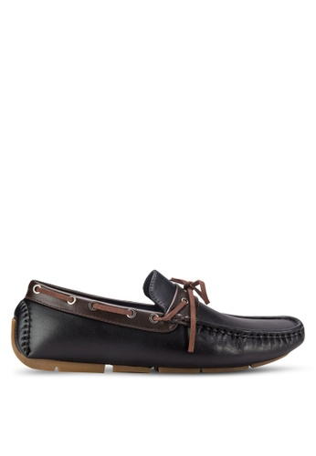 UniqTee black Lace-up Loafers UN097SH28RFFMY_1
