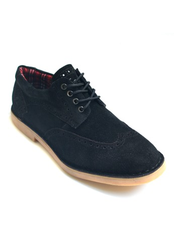 Toods Footwear Derby Wingtip Low - Hitam