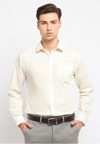 Crow beige CROW Formal Shirt / Kemeja Formal E3CA1AA7AC4856GS_1