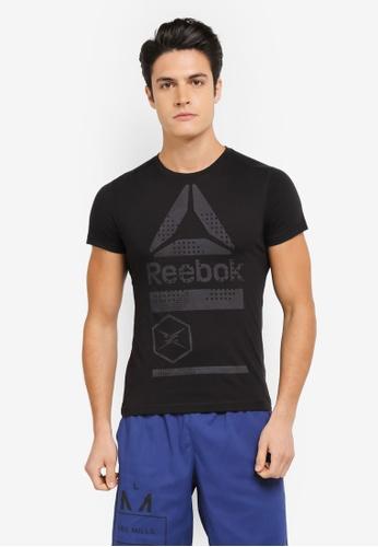 Reebok black One Series Speedwick Blend Graphic Tee RE691AA0SX4NMY_1