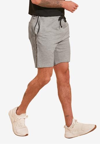 Trendyol grey Banded Jogger Shorts 1D1DDAA9D740E0GS_1