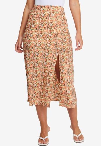 Tussah orange Sonali Skirt 84245AA5D05C69GS_1