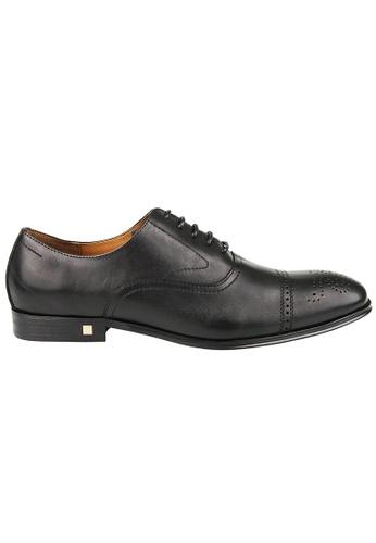 Tomaz black Tomaz F211 Brogue Oxford Lace Up (Black) 2CB84SH6847709GS_1