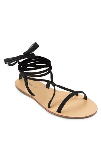 zalora鞋麂皮羅馬涼鞋, 女鞋, 鞋