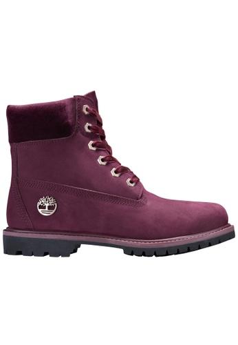 "Timberland purple 6"" Premium Leather and Fabric Waterproof Boot TI324SH2V3EYHK_1"