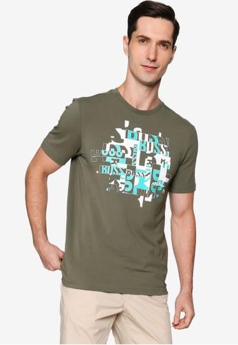 BOSS green Typography T-Shirt 39C58AA0CC9481GS_1