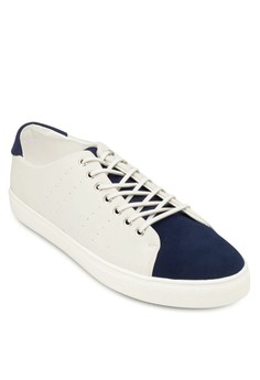 Faux Leather Peforated Sneakers
