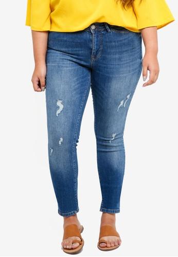 Buy Junarose Plus Size Five Slim Destroyed Jeans Online   ZALORA ... be1ff04885