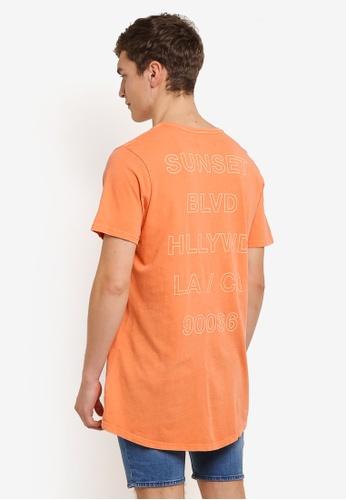 Cotton On orange Longline Scoop Hem Tee CO372AA0RZ7XMY_1