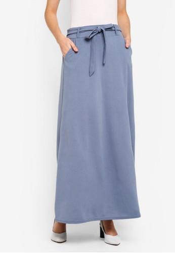 BYN grey Long Skirt 35A71AA0782FA4GS_1