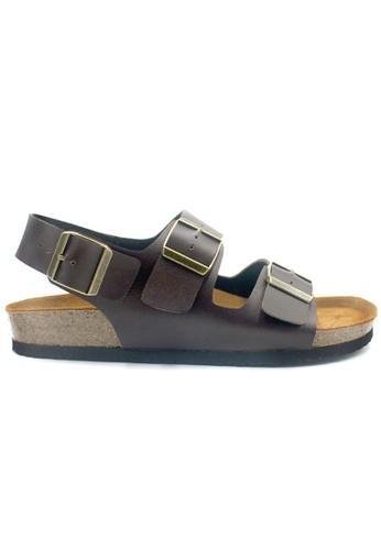 SoleSimple 褐色 Milan - 棕褐色 百搭/搭帶 軟木涼鞋 84EEASH925F79BGS_1