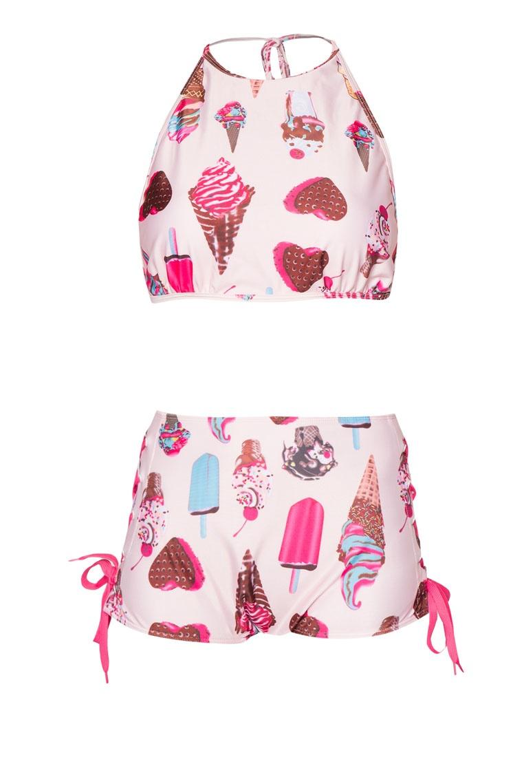 High Pink Bikini Waist Set PINK Swirl N' PROPER Sundae nPqIw
