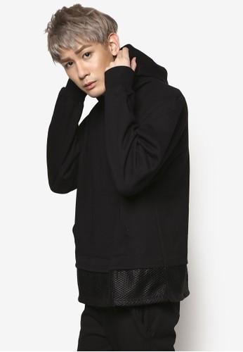網眼拼接連esprit taiwan帽長袖衫, 服飾, 外套