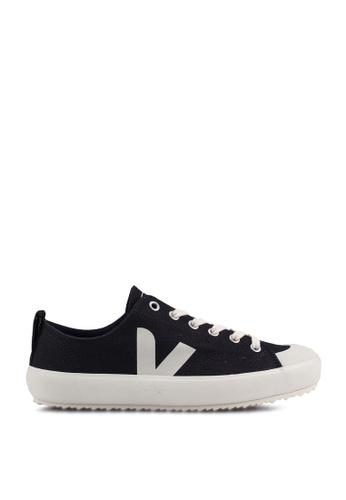 Veja black and red Nova Canvas Sneakers B9B9ESHA26DC0CGS_1
