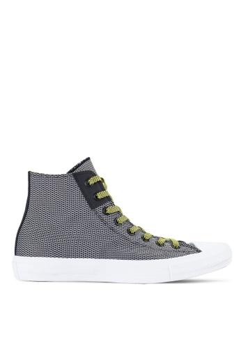 Converse black Chuck Taylor All Star II Reflective Sneakers Hi Top CO302SH53BKOMY_1