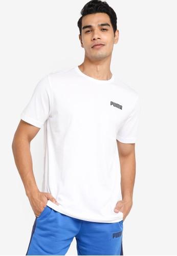 PUMA white Essentials Small Logo Men's Tee FA837AA82D95B5GS_1
