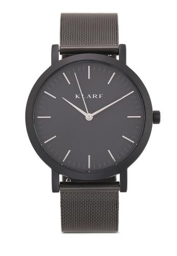 Klarf black Classic Watch With Mesh Bracelet 9AFFFACBB6DA0AGS_1