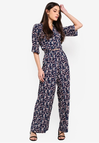 c1143fcffe6b Buy ZALORA Kimono Sleeves Wrap Jumpsuit Online on ZALORA Singapore