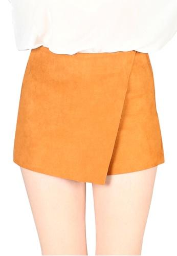 London Rag orange London Rag Women Rust High Waist Wrap Style Shorts CL7421_RUST 5E8A9AA07959D3GS_1