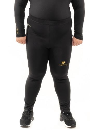 Tiento black Tiento Man Long Pants Big Size Black Gold Celana Legging Pria Olahraga Renang Sepakbola Lari Original ACB0CAA49BDB9EGS_1