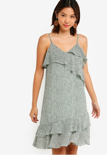Something Borrowed 綠色 Ruffles Overlap Dress 8F770AA0C5CECAGS_1