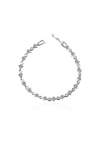 OUXI silver OUXI Elegant Zirconia Bracelet OU821AC25TNIMY_1