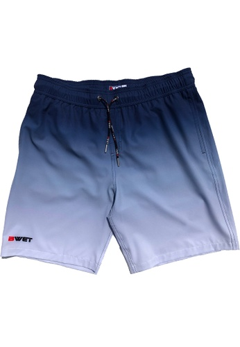 """BWET Swimwear navy Eco-Friendly Quick dry UV protection Perfect fit Navy Beach Shorts """"Sunrise"""" Side and Back pockets EED67US4C66AA8GS_1"""