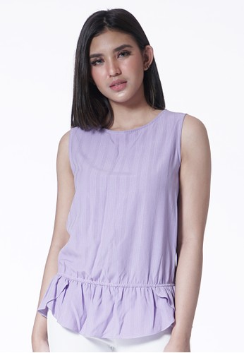 United Concepts purple Lilac Ruffle 'Violet' Top 79556AA0CA526EGS_1