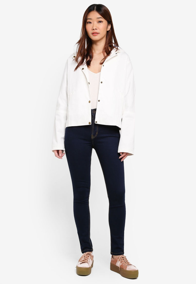 Clothing High Waist MKY Jeans Pocket Navy With Skinny dHFqAp
