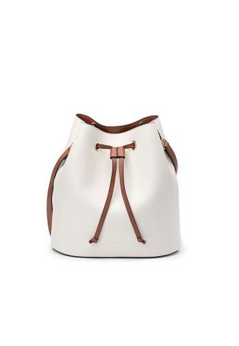Maverick & Co. white Maverick & Co. Eloise Bucket Tote Vegan Leather Bag for Women - Off White CA15BAC49376A2GS_1