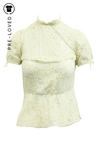 Reformation beige Pre-Loved reformation Boho Style Embroidered Top CB9BFAA9D621E3GS_1