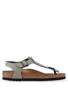 0ac6e40b6a7 Birkenstock brown Kairo Birko-Flor Nubuck Sandals 80766SHEFCF2ABGS 1