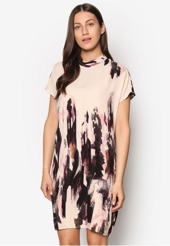 Ebbesprit hka 印花短袖洋裝, 服飾, 洋裝