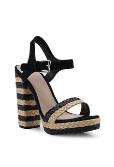 85c27945a73 ALDO Huglag Open Toe Ankle Strap Platform Heels S  159.00. Sizes 6 6.5 7.5  8.5