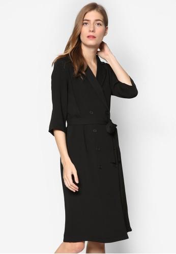 雙排鈕裹esprit outlet 旺角式連身裙, 服飾, 洋裝