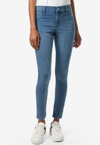 Dorothy Perkins blue PETITE Smoke Blue Frankie Denim Jeans AA014AADB336EEGS_1