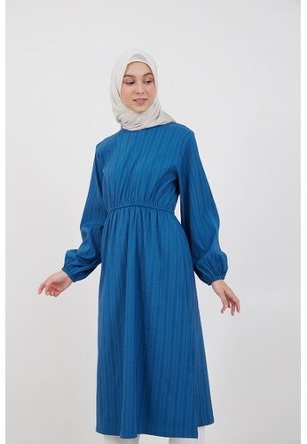 Hijabenka blue Rica Flare Dress Blue FC497AA8112000GS_1